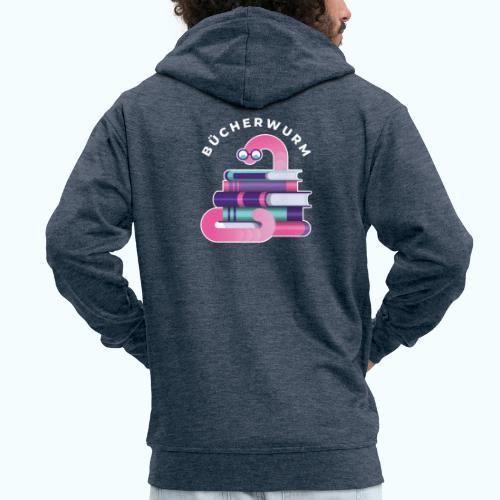 Bücherwurm - Men's Premium Hooded Jacket