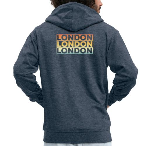 Vintage London Souvenir - Retro SehnsuchtLondon - Männer Premium Kapuzenjacke