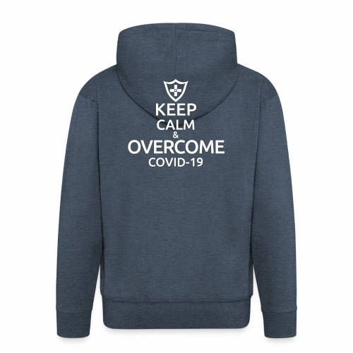 Keep calm and overcome - Rozpinana bluza męska z kapturem Premium