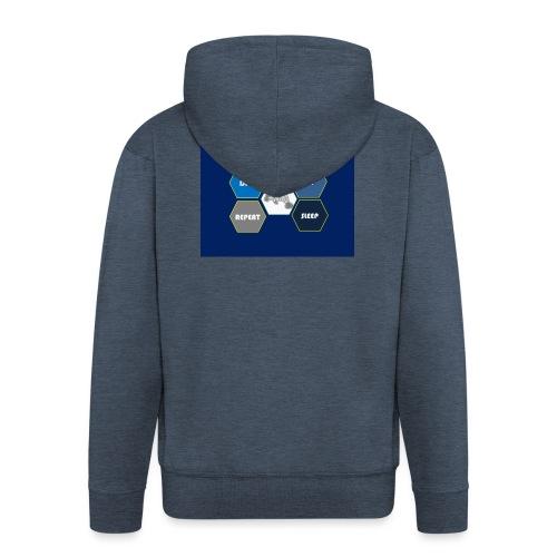 Dive_sleep_repeat_Hexagonal_v1-0_20161118 - Men's Premium Hooded Jacket