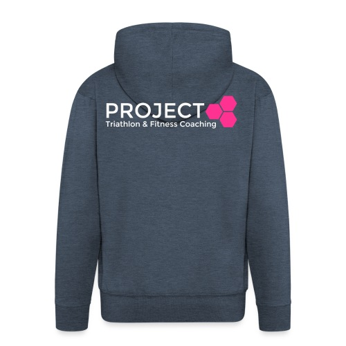 PROJECT pink txt - Men's Premium Hooded Jacket