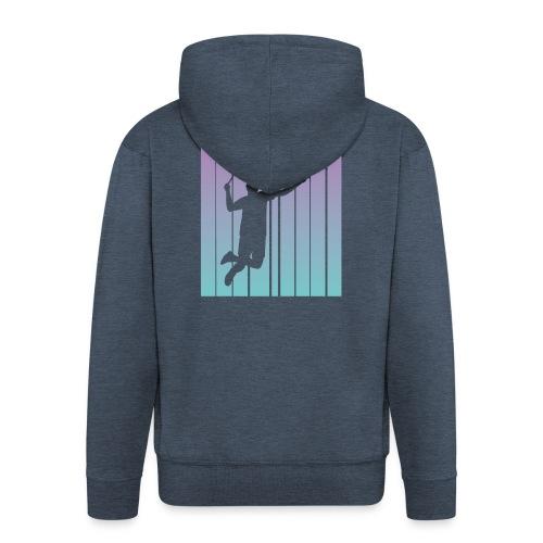 Badminton Jump Smash - Men's Premium Hooded Jacket