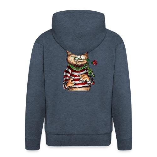 T-shirt - Crazy Cat - Veste à capuche Premium Homme
