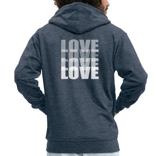 Love - Chaqueta con capucha premium hombre