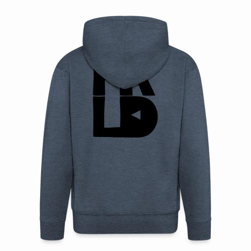 HRLD Black Logo - Miesten premium vetoketjullinen huppari