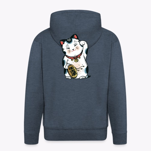 The Lucky Cat - Men's Premium Hooded Jacket