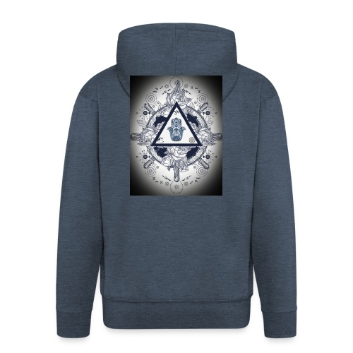 Artsy design with spiritual/meaningful add ons. - Men's Premium Hooded Jacket