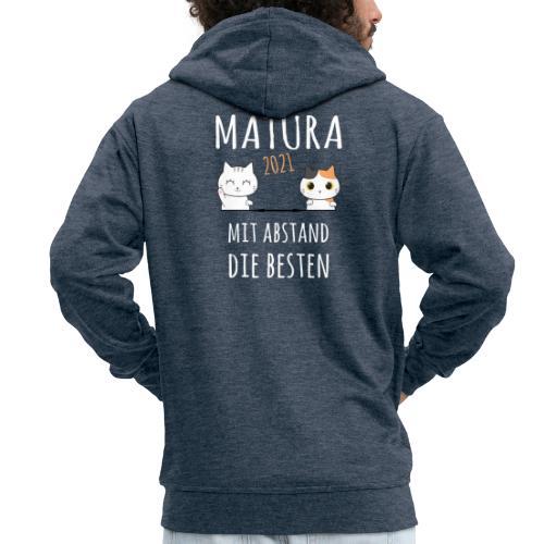 Matura 2021 Schule Corona Katze Shirt Geschenk - Männer Premium Kapuzenjacke