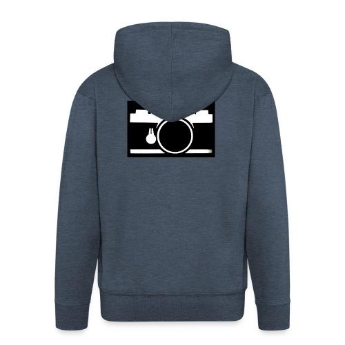 Vintage Camera - Felpa con zip Premium da uomo