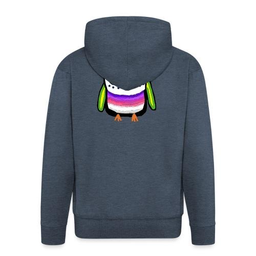 Colorful owl - Men's Premium Hooded Jacket