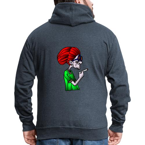 Reggae Rasta man with joint, cannabis, legalize it! - Men's Premium Hooded Jacket