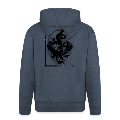 abstract4a - Men's Premium Hooded Jacket