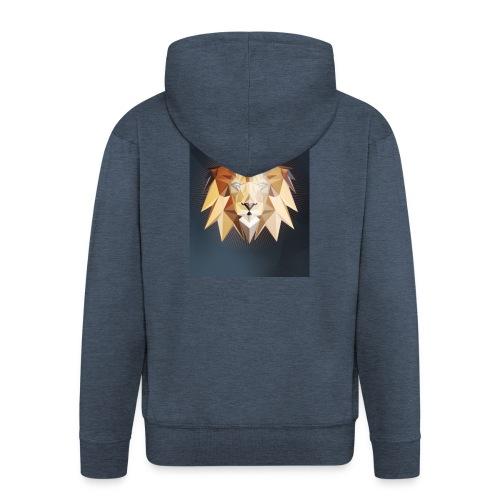 Polygon Lion - Männer Premium Kapuzenjacke