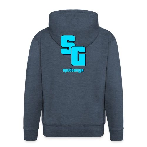 SpudGamer Logo - Men's Premium Hooded Jacket