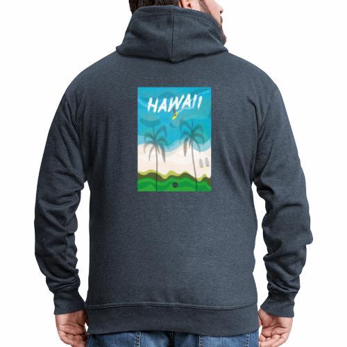 Hawaii - Men's Premium Hooded Jacket