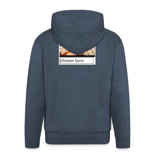 chicken sarni - Men's Premium Hooded Jacket