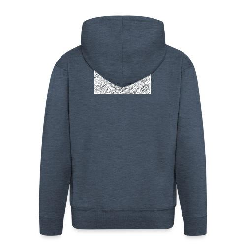 Doodle - Rozpinana bluza męska z kapturem Premium