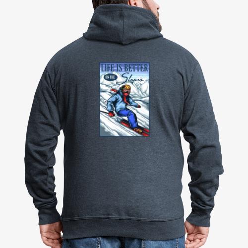 Ski Life - Veste à capuche Premium Homme