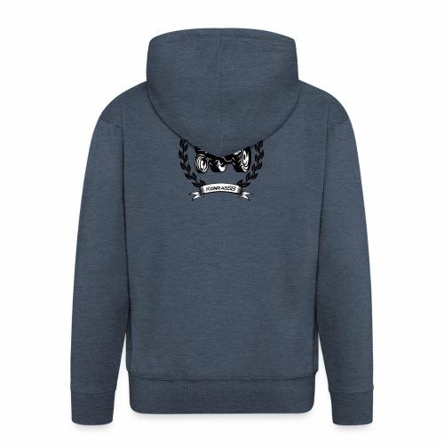 KonradSB - Rozpinana bluza męska z kapturem Premium