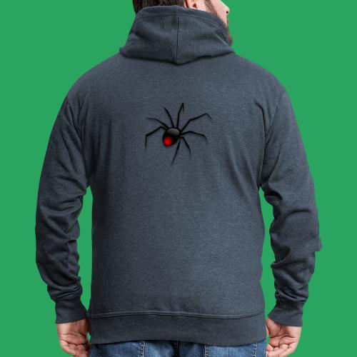 spider logo fantasy - Felpa con zip Premium da uomo