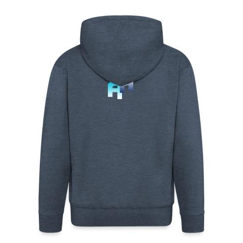 Logo-1 - Felpa con zip Premium da uomo