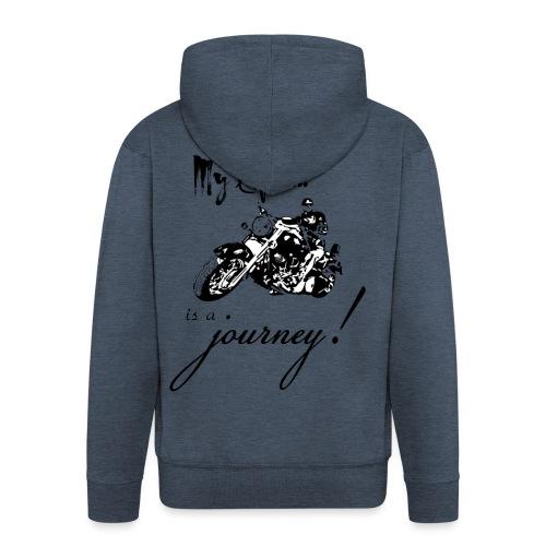 Life is a journey - Men's Premium Hooded Jacket