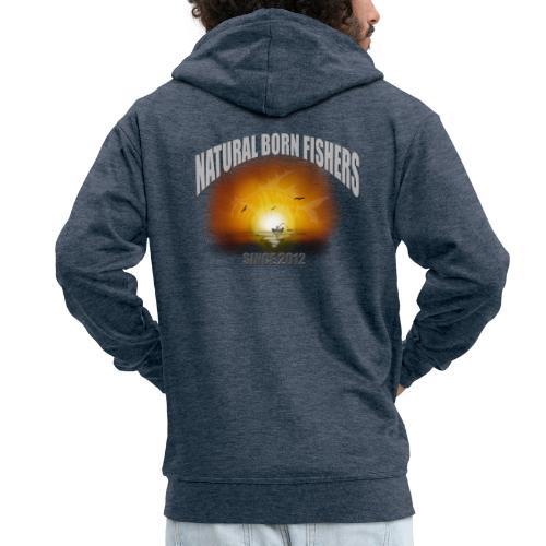 NBF sunset - Miesten premium vetoketjullinen huppari