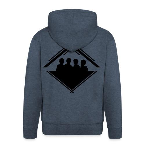 Silhouette Crest Zip Hoodie - Men's Premium Hooded Jacket