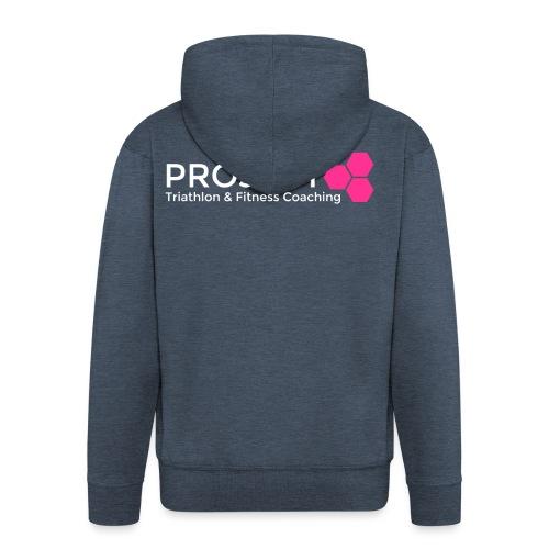 PROJECT pink txt - Men's Premium Hooded Jacket