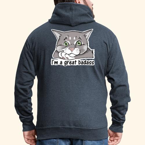 Nice Dogs CATS - Felpa con zip Premium da uomo