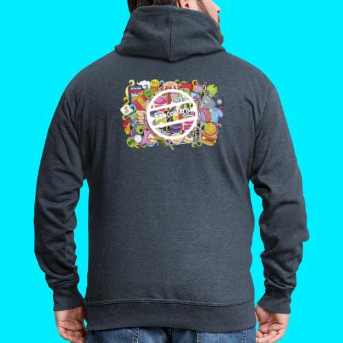 maglia logo doodle - Felpa con zip Premium da uomo