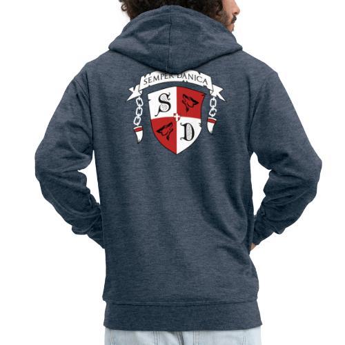 SD logo - hvide lænker - Herre premium hættejakke