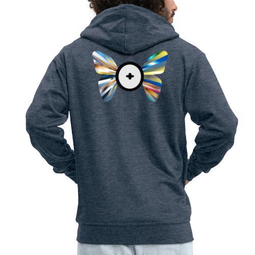 Butterfly Trans-Evolution - Felpa con zip Premium da uomo