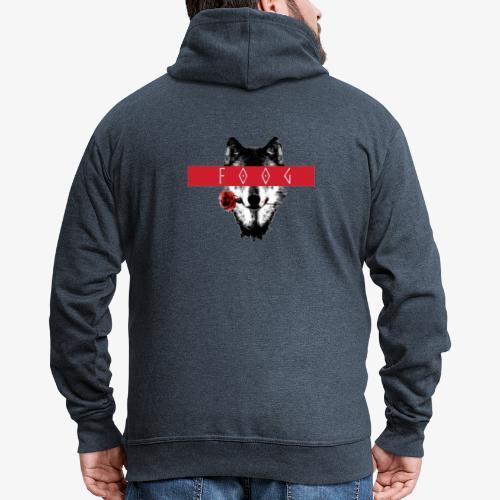 Wolf and Rose F00G - Chaqueta con capucha premium hombre
