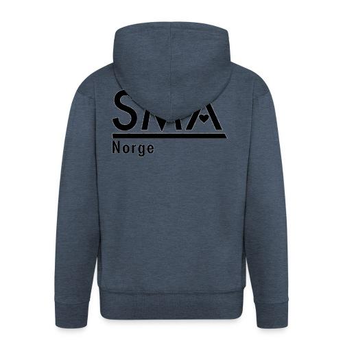 SMA Norge logo - Premium Hettejakke for menn