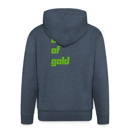 crew - Felpa con zip Premium da uomo