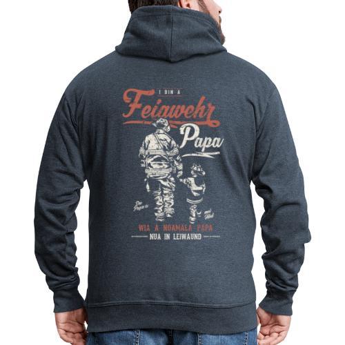 Vorschau: Feiawehrpapa - Männer Premium Kapuzenjacke