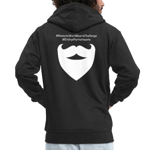 Remote Work Beard Challenge - Men's Premium Hooded Jacket