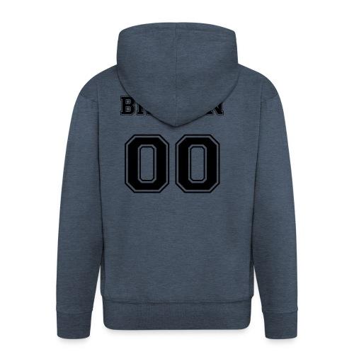 BRKLYN 00 - Felpa con zip Premium da uomo