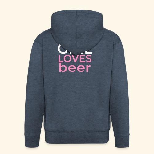 Ragazza birra - Felpa con zip Premium da uomo