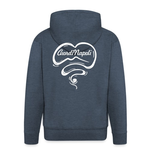 CuordiNapoli New Logo - Felpa con zip Premium da uomo