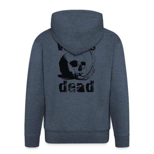 Who's dead - Black - Felpa con zip Premium da uomo