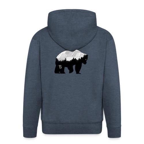 Geometric Mountain Bear - Felpa con zip Premium da uomo