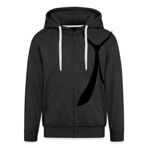 JUSTSOMEMOTION - Black Tie T-Shirts - Männer Premium Kapuzenjacke