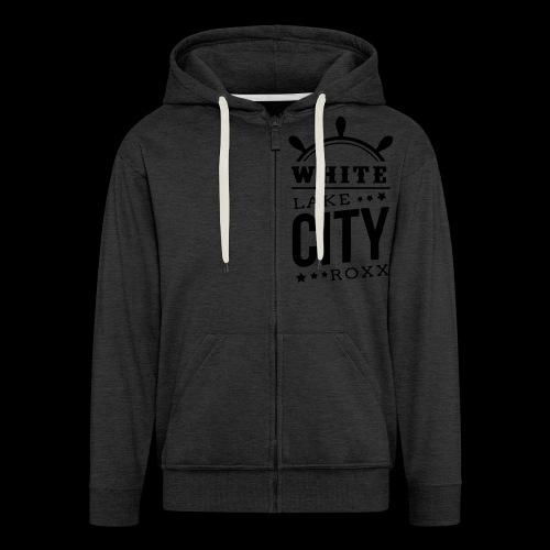 White Lake City Roxx Hoch - Männer Premium Kapuzenjacke