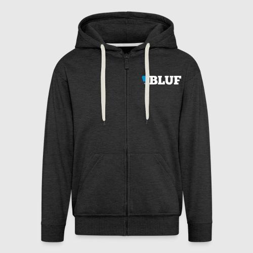 blufwhitetext - Men's Premium Hooded Jacket
