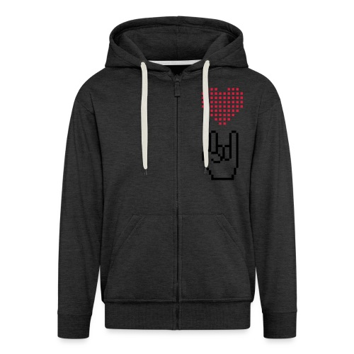 Pixel Love Rock - Männer Premium Kapuzenjacke