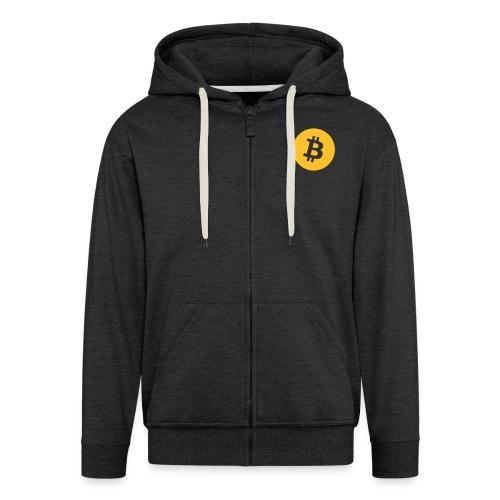 Bitcoin_logo_small - Mannenjack Premium met capuchon