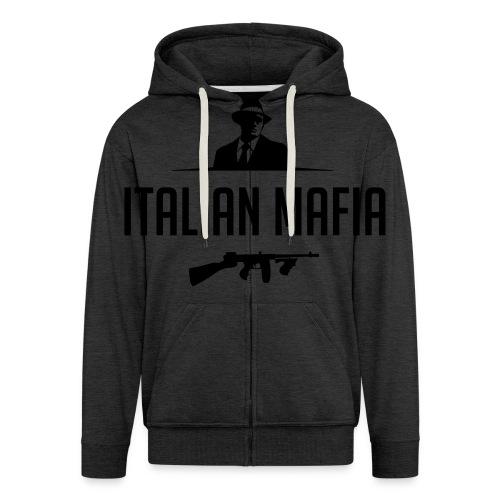 italian mafia - Felpa con zip Premium da uomo