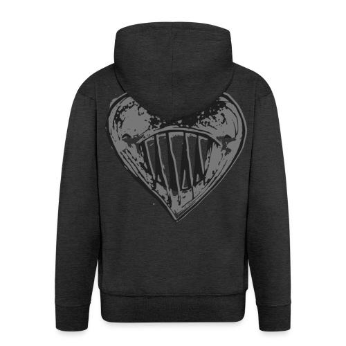 Corazón Negro - Chaqueta con capucha premium hombre